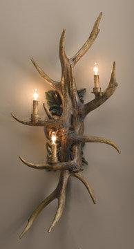 ANTLER RESIN WALL SCONCE LAMP