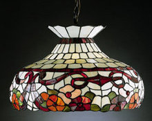 GLASS FLORAL hanging LAMP SHADE