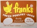 VINTAGE FRANK'S EGG CRATE LABEL