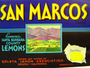 San Marcos Lemon Crate Label