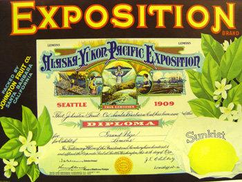 Sunkist Alaska Yukon Crate Citrus Labels