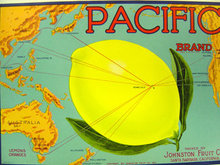 Pacific Brand Lemon Crate label
