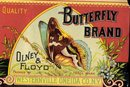 Olney Floyd Butterfly Squash Can Vegetable Label