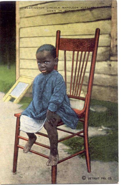 Negro Boy Black Americana Postcard