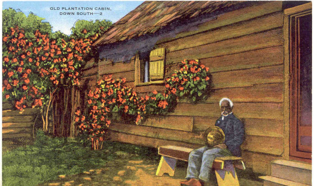 VINTAGE NEGRO MAN PLANTATION POSTCARD / UNUSED
