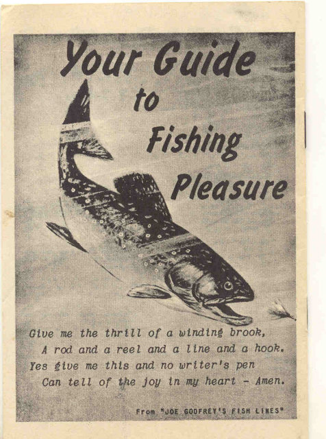 VINTAGE FISHING GUIDE PAMPHLET / HOW TO CATCH FISH