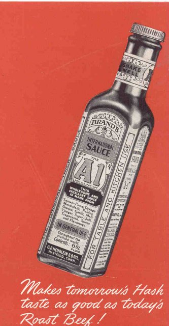A1 STEAK SAUCE Recipe Booklet pamphlet