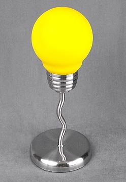 YELLOW LIGHTBULB LAMP / ART DECO NEW