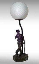 CAST IRON GOLFER GOLF LAMP / NEW ACCENT