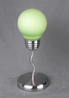 GREEN LIGHTBULB ACCENT LAMP / NEW LIGHTING
