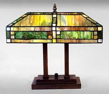 ART DECO GLASS TABLE LAMP / NEW ACCENT LIGHTING