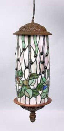 ART DECO HANGING LAMP W LEAF DESIGN / NEW