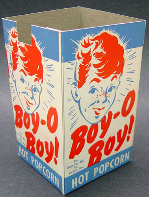 Boy-O-Boy Popcorn Movie Theatre Box