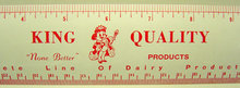 Vintage KING QUALITY METAL DAIRY Ruler