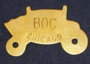 VINTAGE FISHER BODY BRASS NAMEPLATE BOC BUICK OLDSMOBILE CHEVROLET
