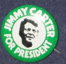 Jimmy Carter Political Pinback
