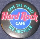 VINTAGE HARD ROCK CAFE PINBACK PIN RECYCLE