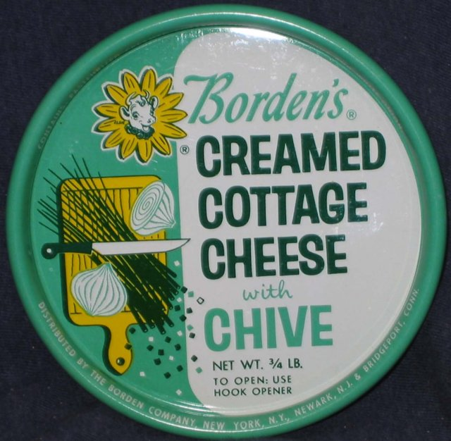 Borden's Cottage Cheese Lid - 1950s Elsie the Cow