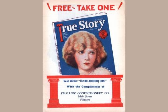 VINTAGE 1925 SWALLOW CONFECTIONARY FLYER