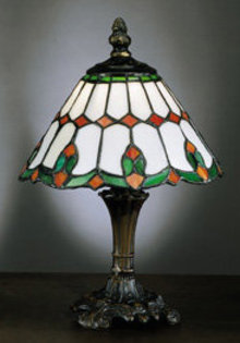NEW GLASS BED LAMP / RED GREEN