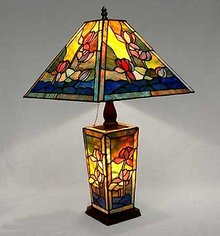 GLASS LILY POND LAMP / NEW LIGHTING