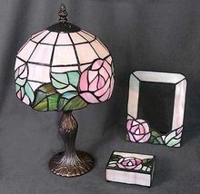 GLASS LAMP / PICTURE FRAME / TOILETRY BOX