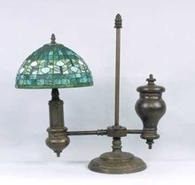 METAL RESIN OLD TIME GLASS LAMP / NEW LIGHTING