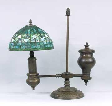 METAL RESIN OLD TIME GLASS LAMP / NEW LIGHTING