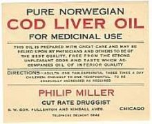 Cod Liver Oil Label