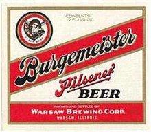 Burgemeister Pilsener Beer Labels