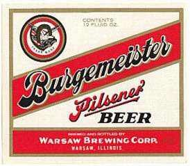 Burgemeister Pilsener Beer Labels