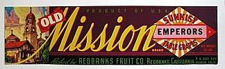 VINTAGE MISSION GRAPE SUNKIST CRATE LABEL
