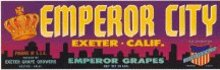 Emperor City Grape Crate label