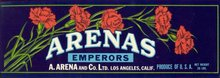 Arenas Grape Crate Label