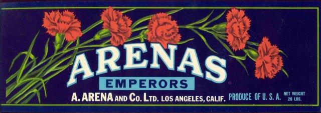 Arenas Grape Crate Label