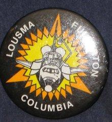 Vintage STS-3 Columbia Lousma Mission Pinback 1982