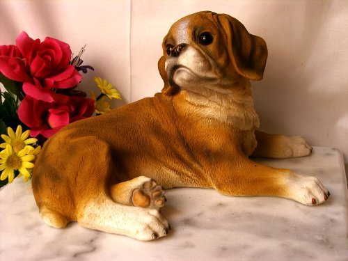 BOXER DOG RESIN STATUE