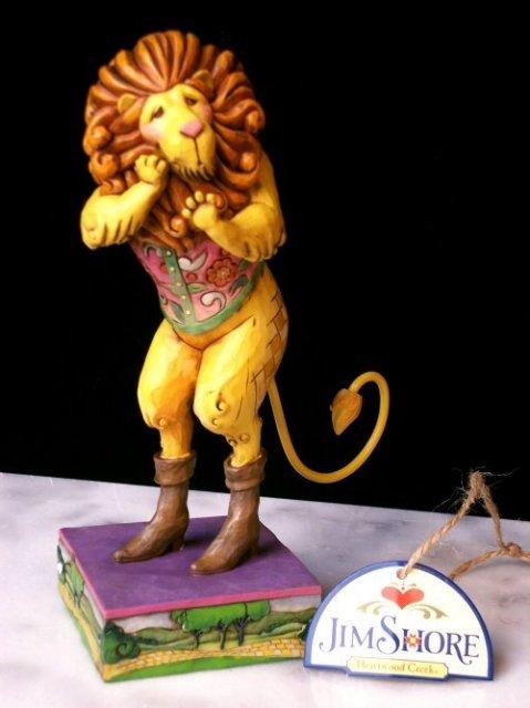 JIM SHORE COWARDLY LION STATUE / WIZARD OF OZ