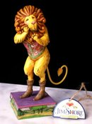 JIM SHORE COWARDLY LION STATUE / WIZARD OF OZ