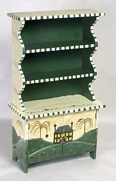 DOLLHOUSE FURNITURE / OPEN CUPBOARD
