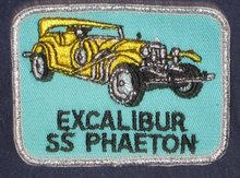 VINTAGE EXCALIBUR PHAETON CAR PATCH