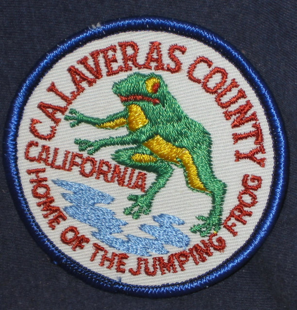 VINTAGE CALVERAS COUNTY FAIR Patch 1960s / frog