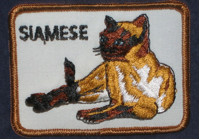 VINTAGE SIAMESE CAT PATCH / NOS 1960S