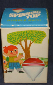 VINTAGE AVON SUPER SPINNER BATH TOP TOY in BOX