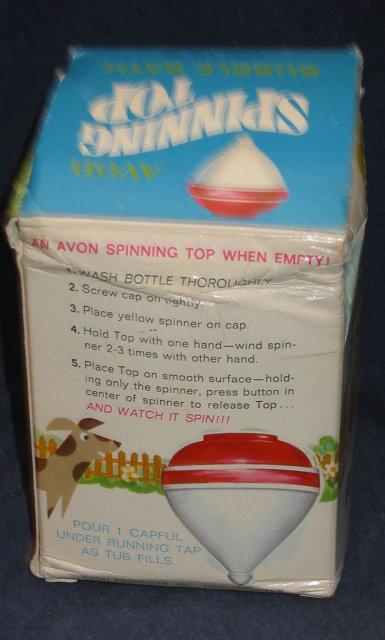 VINTAGE AVON SUPER SPINNER BATH TOP TOY in BOX