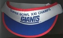 Superbowl Football XXII Visor Hat - NY GIANTS
