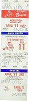 ATLANTA BRAVES Baseball Tickets 1982 / VINTAGE SPORTS MEMORABILIA
