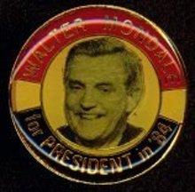 Walter Mondale President Pinback Lapel Pins