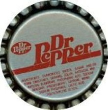 Dr. Pepper Soda Bottle Cap