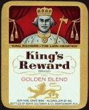 VINTAGE KING'S REWARD GRAPE LABEL